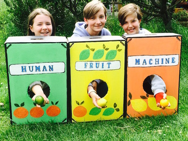 Human Fruit Machine for the Summer Fair